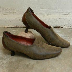 NWOT Couture Donald J Pliner Leather KittenHeels 6